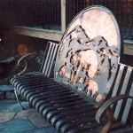 Appalachian Ironworks specializes in custom pieces, such as this Bench!