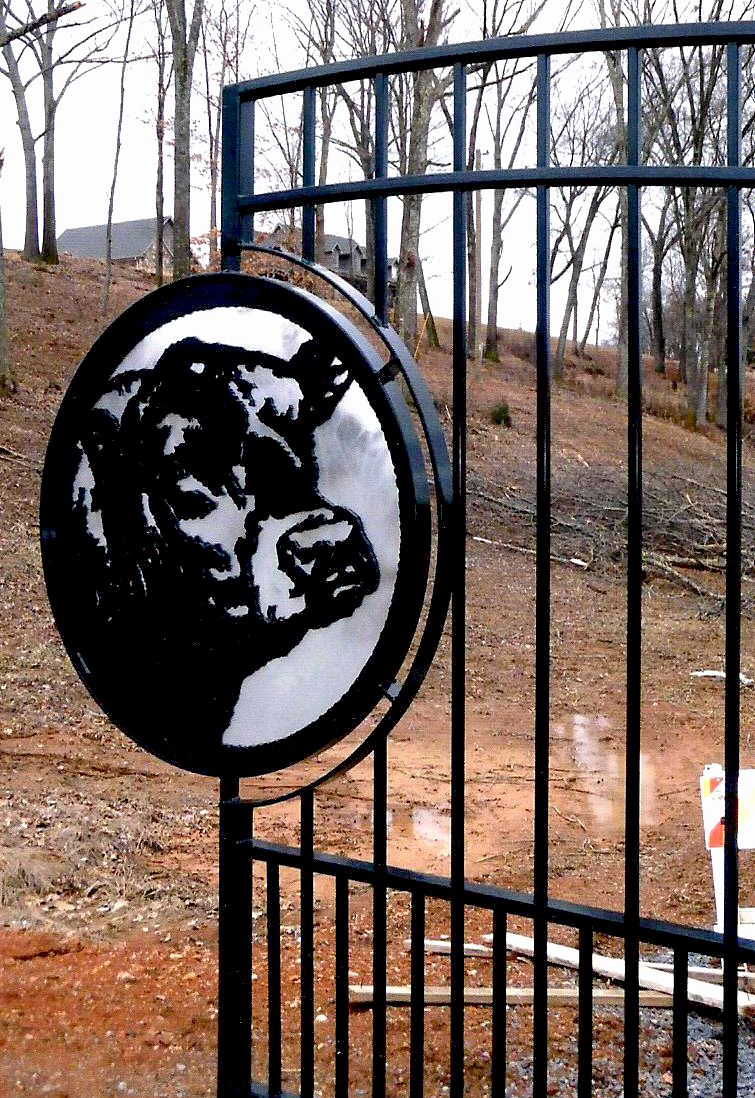 Custom Black Angus Gate